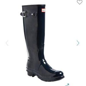 Hunter Tall Glossy Black Boots